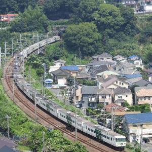 撮影日記 東海道本線 湯河原 185系踊り子