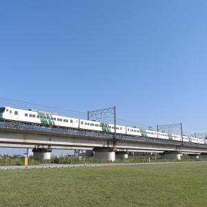 撮影日記 東海道本線 多摩川 185系あしかが大藤まつり号(回)