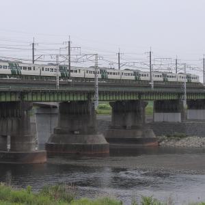 撮影日記 武蔵野南線 多摩川 185系鎌倉あじさい号
