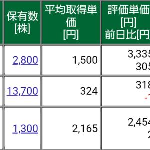 保有株式と資産状況☆2021/4/11(日)