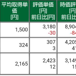 保有株式と資産状況☆2021/4/18(日)