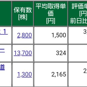 保有株式と資産状況☆2021/4/25(日)