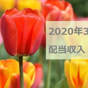 2020年3月の配当収入