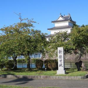 「新発田城址公園」細い道をマッシュで行きました。(^_^)/