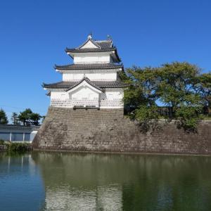 「新発田城」白鷺と鴨たちが寛いでいましたよ。(^_^)/