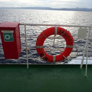 「青函フェリー・3号はやぶさ」洋上で凄いものを発見しました。 ( -_[◎]oパチリ