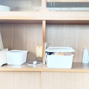 キッチンカウンターの整理
