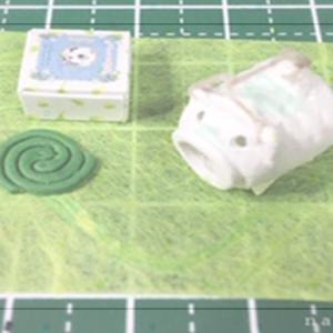 フリー素材・蚊取り線香の箱 展開図