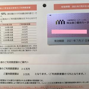 三越伊勢丹の株主優待カード更新