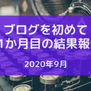 2020年9月 ブログを初めて11か月目の結果報告