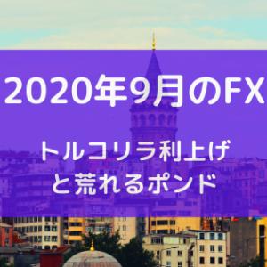 2020年9月のFX トルコリラ利上げと荒れるポンド