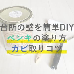 【台所の壁を簡単DIY】ペンキの塗り方/おすすめ/カビ取りコツ