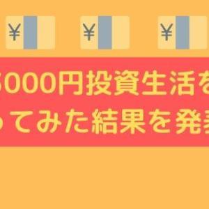 3000円投資生活をやってみた!実践した投資結果を発表!【体験談】