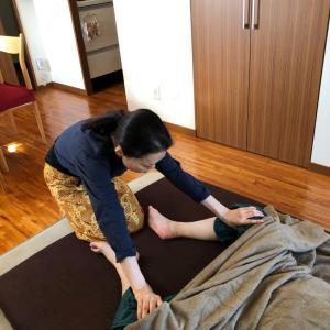 日曜日は妊婦さん向けのタイ古式マッサージ練習