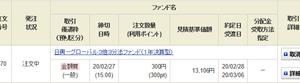 日興-グローバル3倍3分法ファンド(1年決算型)を300ポイント分買いました。 3回目<br />