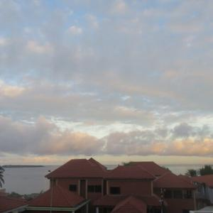 厚い雲から雨筋が見える(2020年12月5日)