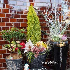 ぉ庭✤和モダンな新春のポーチ...✤