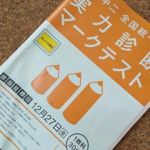 進研ゼミ12月号【中2全国統一実力診断マークテスト】で撃沈