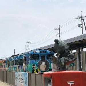境港で鬼太郎列車に乗った!