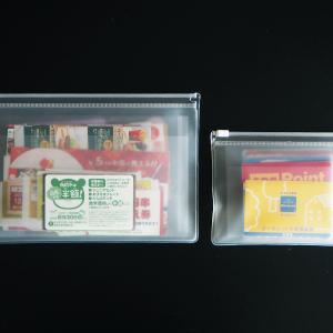 無印のEVAケースとクリアケースで!仕切り付きクーポン&カード収納