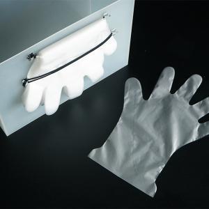 100円のコードフックとヘアゴムで簡単!使い捨て手袋の収納法