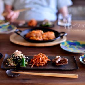 「雨の日の韓国料理」