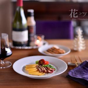 「鴨プロシュートと柿のサラダ」