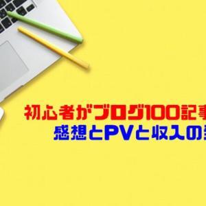 初心者がブログ100記事書いた感想とPVと収入の発表