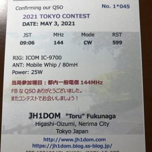 東京コンテストのQSLのデザイン決定