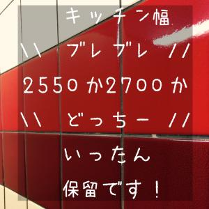 【キッチン】幅問題でブレブレ(´・_・`)