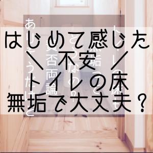 【トイレ】無垢床に不安を感じた日