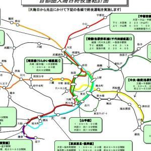 2020大晦日-2021元旦 JR東日本が首都圏での終夜運転を実施