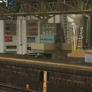 駅ホームにあった洗面台 早朝の広島駅の思い出