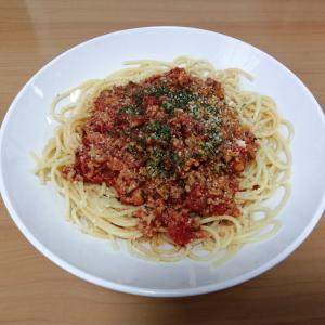#34 自炊で節約 ミートソーススパゲティ