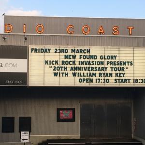 【ライブレポート】NEW FOUND GLORY 20th Anniversary Tour 2018/03/23 新木場Studio Coast セトリ/使用機材