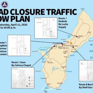 グアム島内主要道路で住民の不要不急な外出を抑えるための交通規制