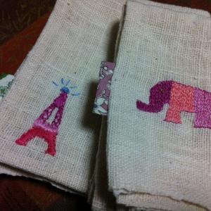 ワンポイント刺繍♫