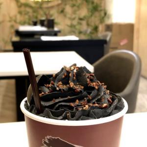 タンジェリンを刳りぬいた中のプーアル茶🍵