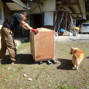 薪ストーブの設置① 移動