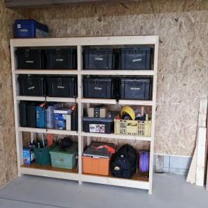 棚が出来たので工具箱の整理