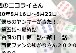 【日本語読めない卓】今週のニコライさん(2020年8月16日~8月22日)