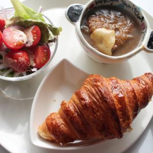 クロワッサン&オニオンスープでお昼ごはん~2021年1月26日(火)