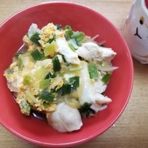 鶏ささみの親子丼でお昼ごはん~2021年9月18日(土)