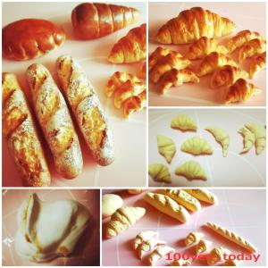 ダイソーの「もちっとのびーるねんど」でパンのミニチュアを作ってみました!