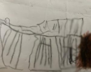 4歳ができること 黒い絵を描く(笑)