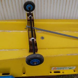 2馬力ボートのドーリー、座椅子改良も?
