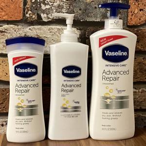 【ヴァセリン】アドバンスドリペアボディローションで乾燥肌対策!大容量ポンプの名品をレビュー♡