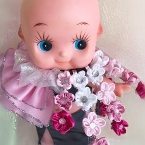 万葉集「桜」にちなんだ一首(相聞歌)がドレスになった! (型紙あります)
