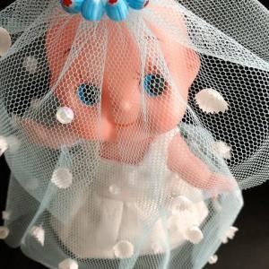 6月ジューンブライドのために キューピーもキュートな花嫁 (型紙あります)