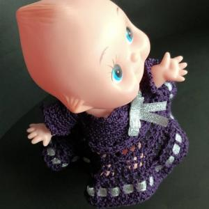 キューピー 膝丈のお嬢様スタイルもお似合い (レース編み図あります)